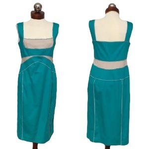 ALBERTA FERRETTI $1490 colorblocked cotton dress 8